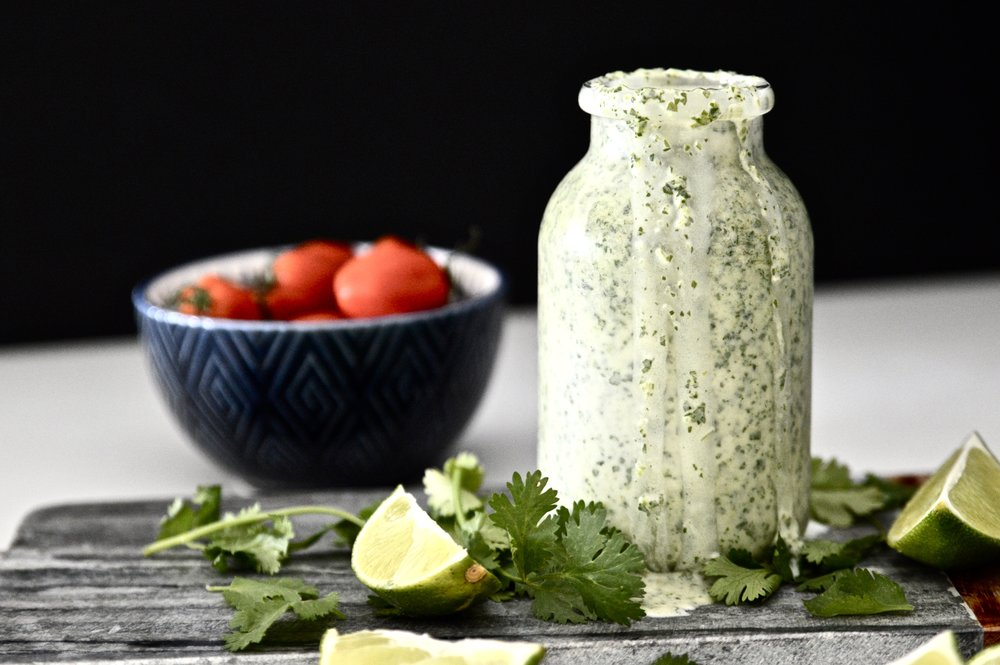 Whole 30 Cilantro Lime Dressing (Paleo, Vegan, Gluten Free, GAPS, SCD, Dairy Free)