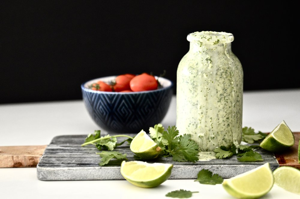 Whole 30 Cilantro Lime Dressing (Paleo, Vegan, GAPS, SCD, Dairy Free, Gluten Free)