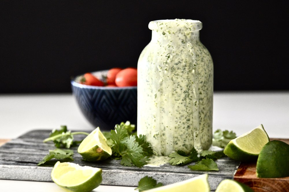 Whole 30 Cilantro Lime Dressing (Paleo, Vegan, AIP, GAPS, SCD, Gluten Free, Dairy Free)
