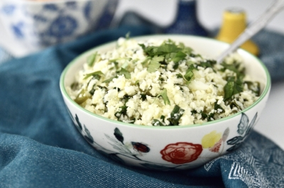 Whole 30 Cilantro Lime Cauliflower Rice (Paleo, Vegan, GAPS, SCD)
