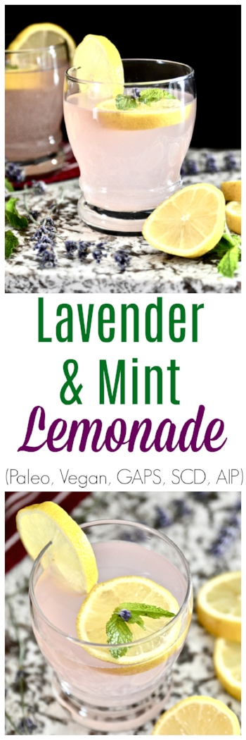 Lavender Mint Lemonade (Paleo, Vegan, GAPS, AIP, SCD) - Lavender Lemonade - Vegan Lemonade - Mint Lemonade - GAPS Lemonade - Paleo Lemonade - AIP Lemonade - Easy Lemonade