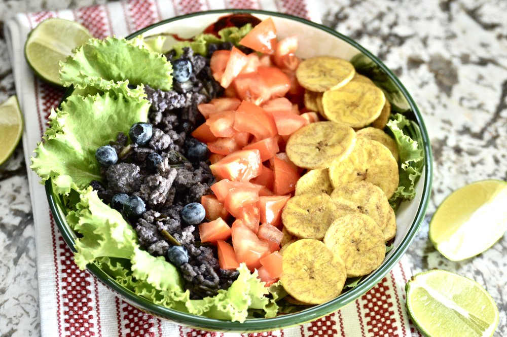 Whole 30 Blueberry Beef Burrito Bowls (Paleo, AIP, SCD, GAPS)