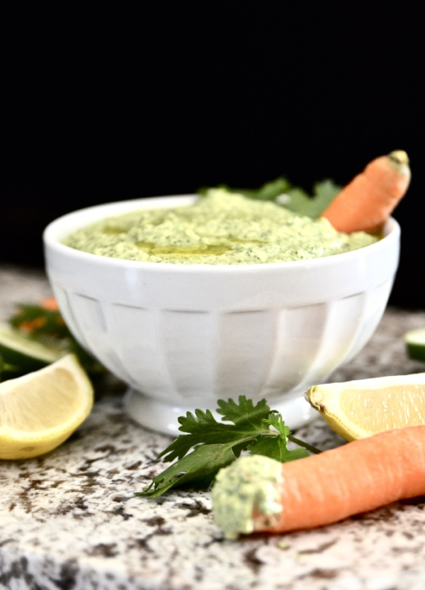 Whole30 Citrus, Cucumber and Cilantro Dip is going to become your new favourite Whole30 dip recipe. This Whole30 Citrus, Cucumber and Cilantro Dip is so easy to make and tastes amazing. Use this Whole30 Citrus, Cucumber and Cilantro Dip as a dip for raw vegetables, or to top your favourite meat or fish dish.