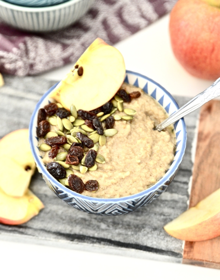 Do you miss oatmeal on the paleo diet? Trust me I did too! That's why I created this delicious Paleo Caramel Apple Oatmeal. This Paleo Caramel Apple Oatmeal is like getting to have dessert for breakfast. It is just that tasty! Paleo Caramel Apple Oatmeal is also super simple to make and will have you coming back for seconds and maybe even thirds!