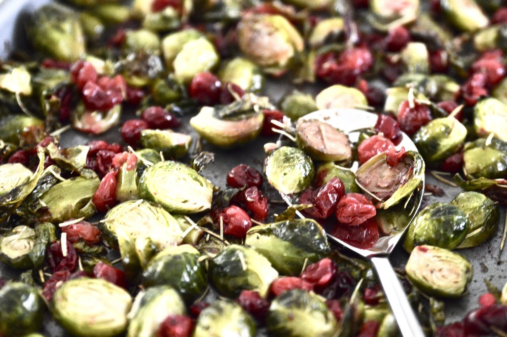 Maple Cranberry Brussels Sprouts