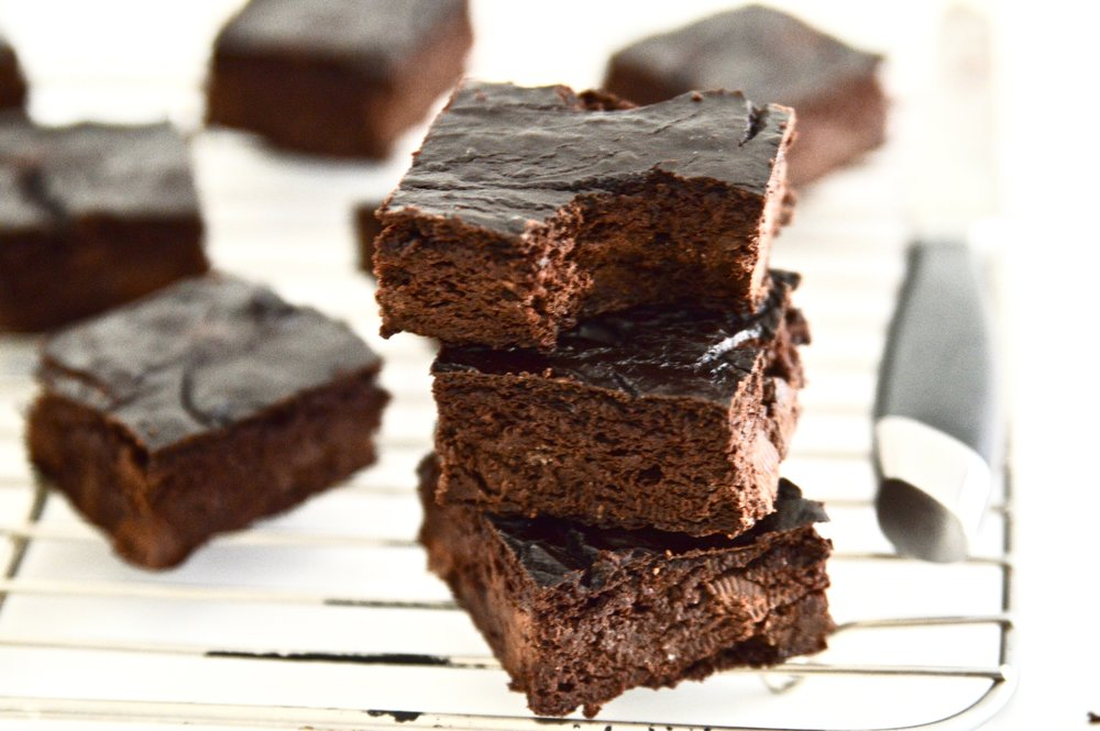 Paleo Double Chocolate Avocado Brownies