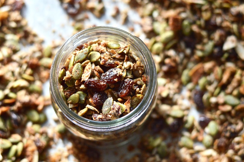 Slightly Sweet Grain Free Granola (Paleo, Whole30, Vegan, GAPS, SCD)
