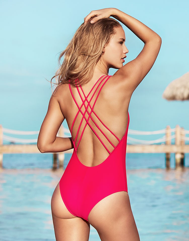 Adore Me Model Chase Carter Wearing Keona Swimsuit