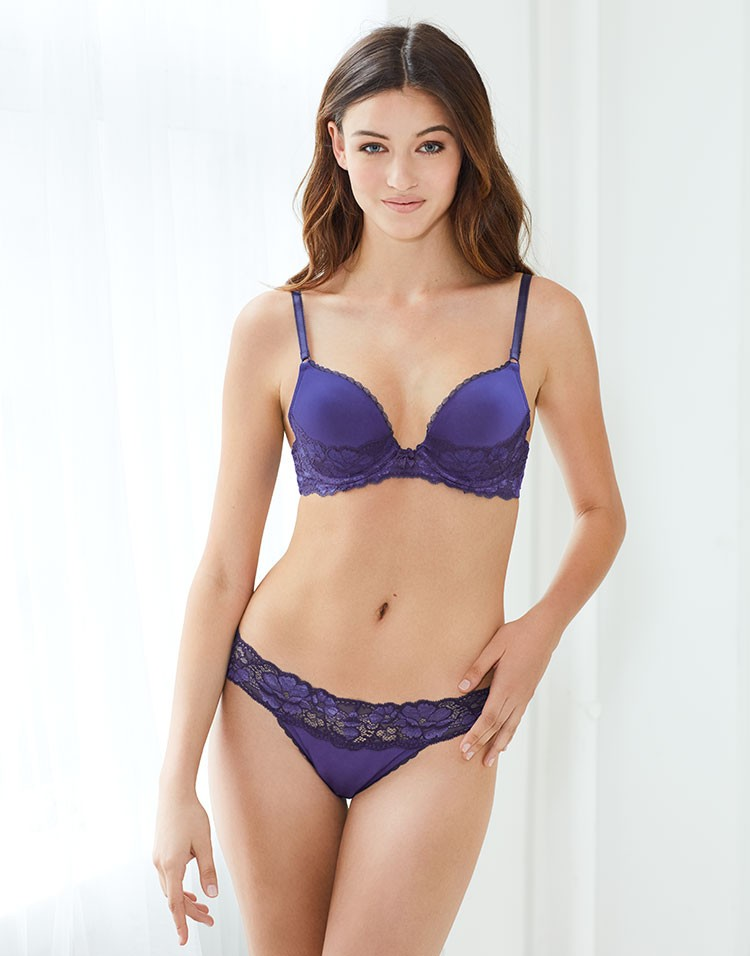 Adore Me Model Gabby Westbrook Wearing Michella Push Up