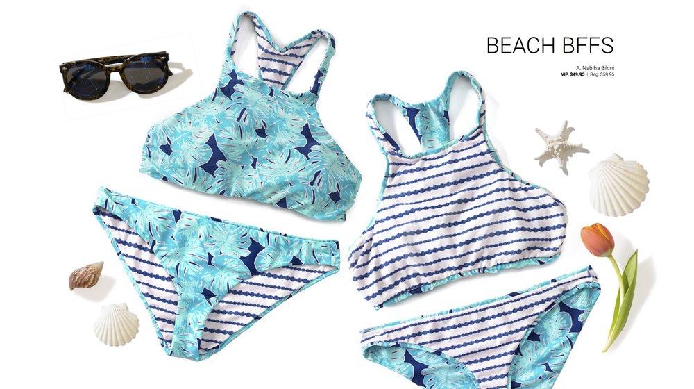 Adore Me Summer Swim 2017 BFFS