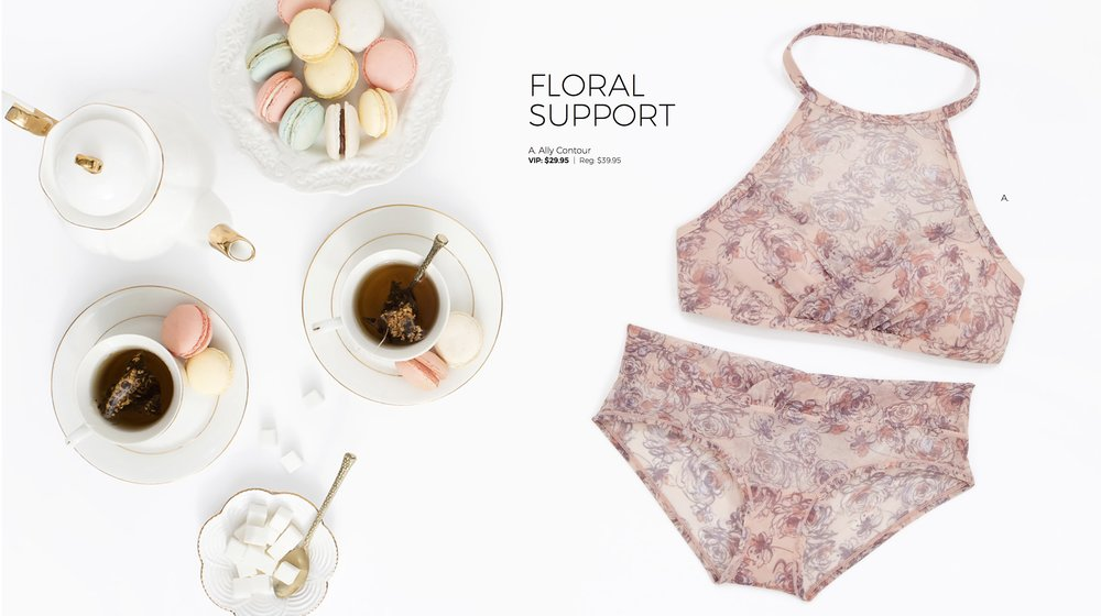 Adore Me Bralettes Collection Floral