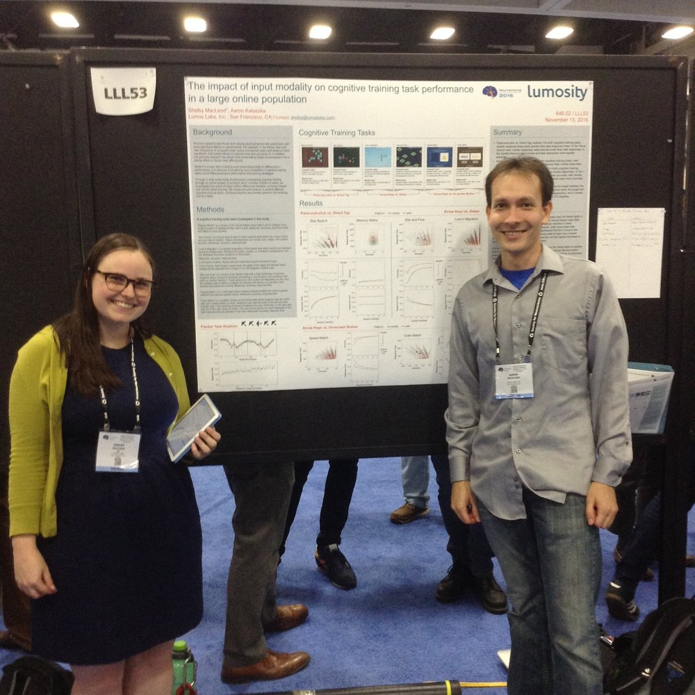 Members of Lumosity's Team Presenting at the Society for Neuroscience Annual Meeting