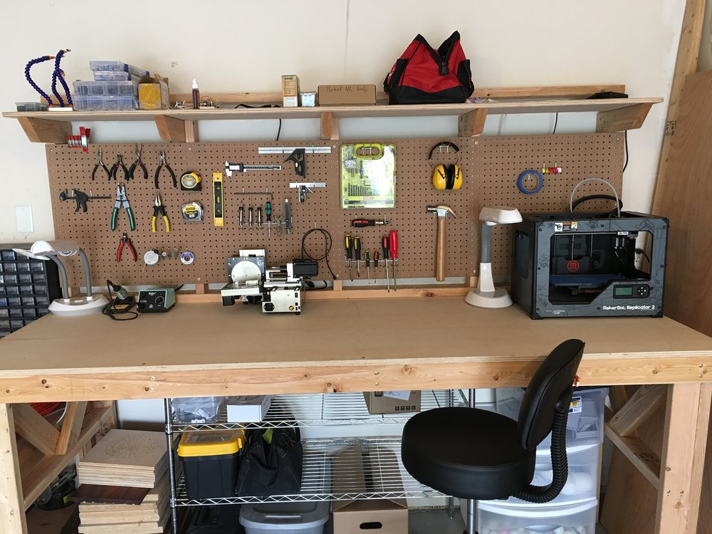 My completed work bench.