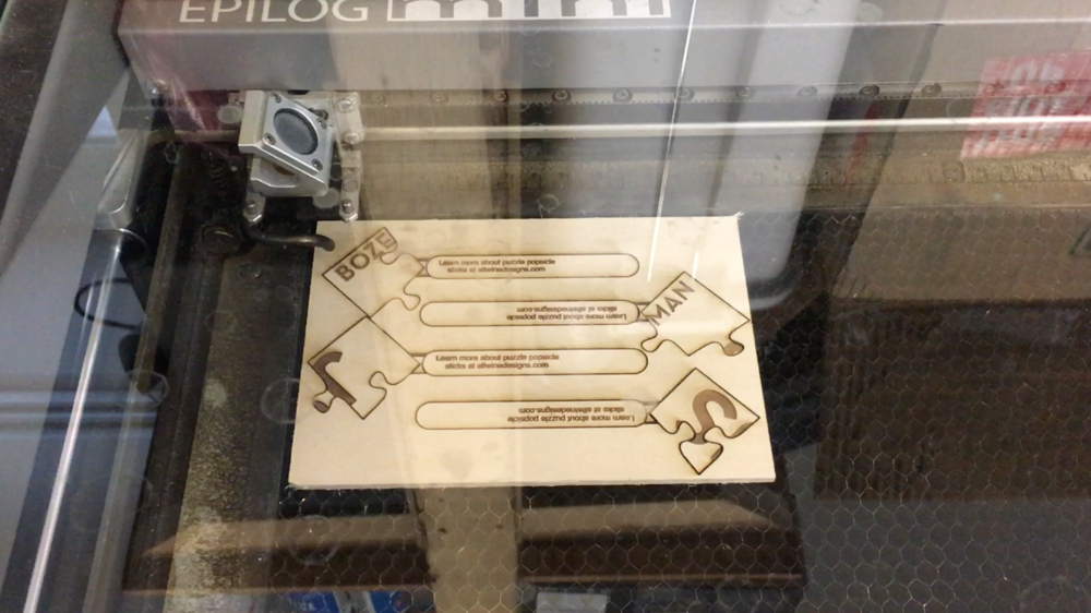 The end result of laser cutting.