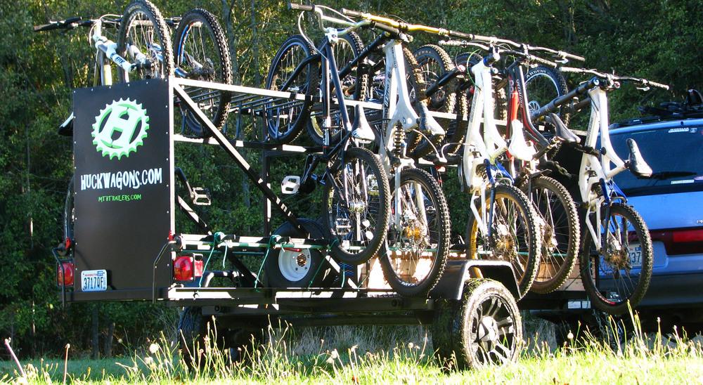 Huckwagons Mountain Bike Shuttle Trailers
