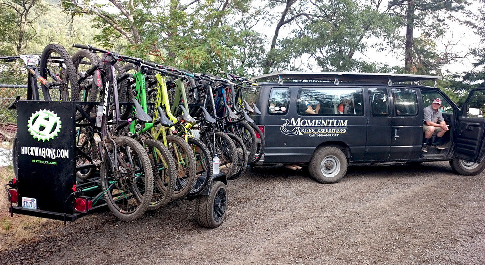 Large Huckwagons Mountain Bike Shuttle Trailers ready for any offroad bicycle excursion