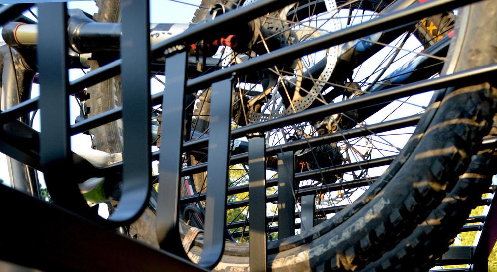 Small Huckwagons Mountain Bike Shuttle Trailers scratch-free design