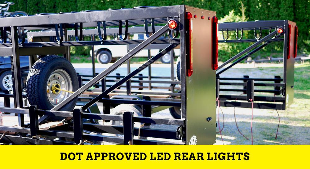 Huckwagons Mountain Bike Shuttle Trailer DOT approved LED Rear lights