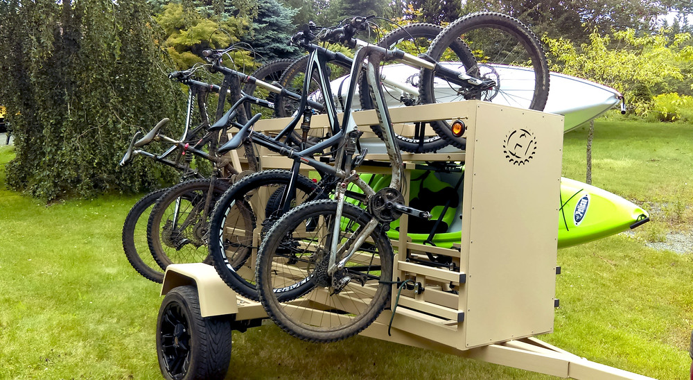 Small Huckwagons Mountain Bike Shuttle Trailers for the multi-sport family