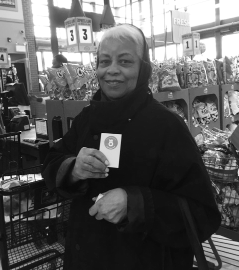 The grocery store check out lines were all very long, but this wonderful lady let a shopper with just one item go ahead of her in line! Her kindness gets her a  #NobleHourHigh5 !