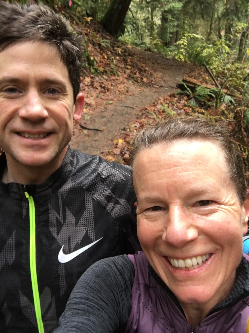 Thankful for a life partner who loves to run the beautiful forested miles of Forest Park trails that lie right outside our Portland doorstep, and the beauty and nature of Oregon. - Jenny