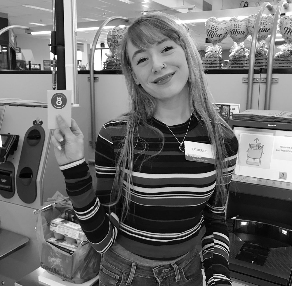 We've all been there; self check-out just isn't working- that's when this smiling employee came over to the rescue!