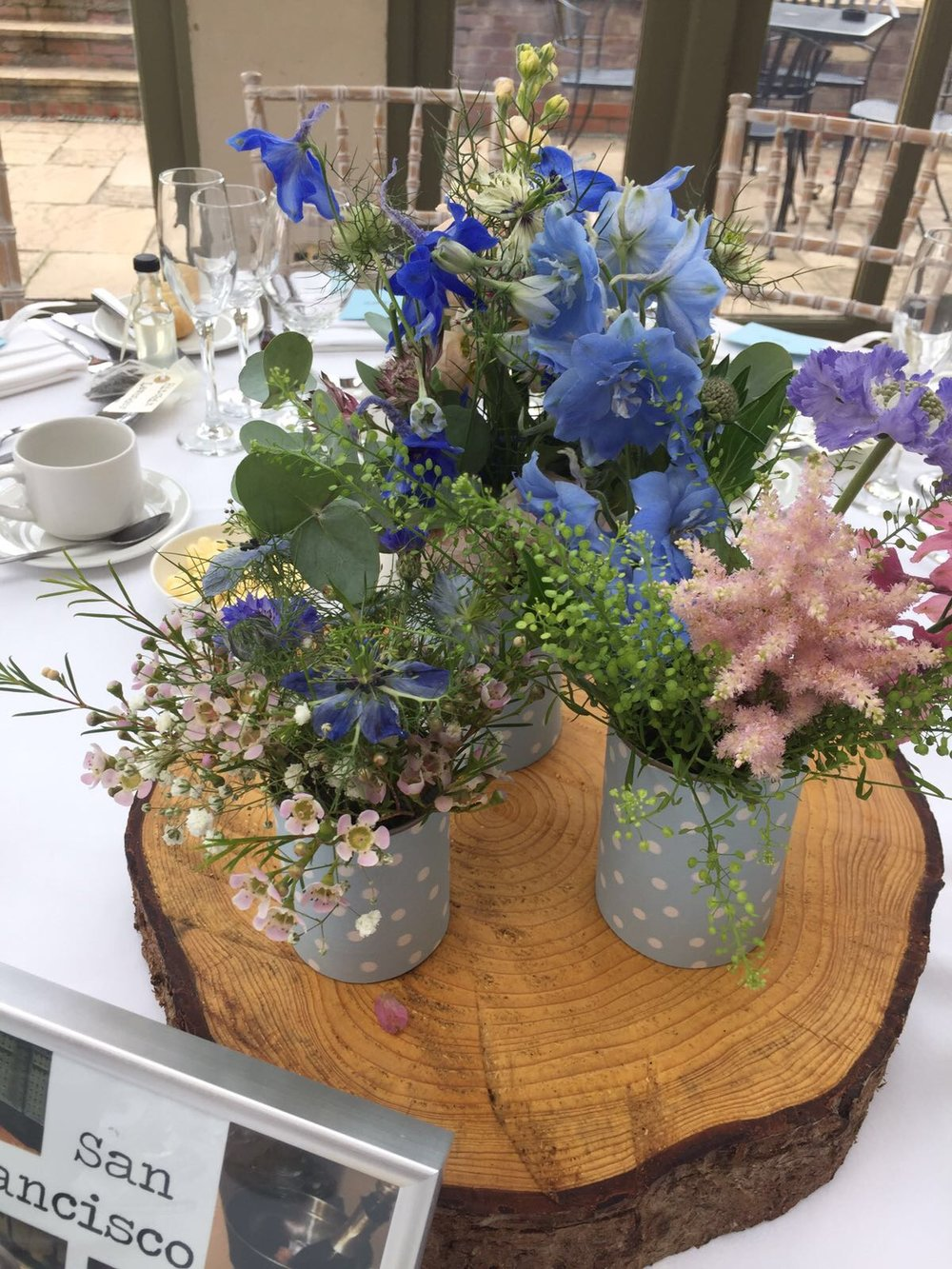 blue flowers middle table.JPG