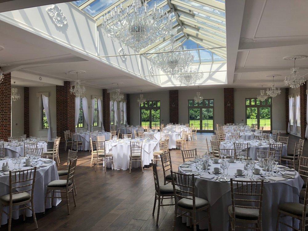 Ballroom Wedding Breakfast round tables 120 guests.jpg