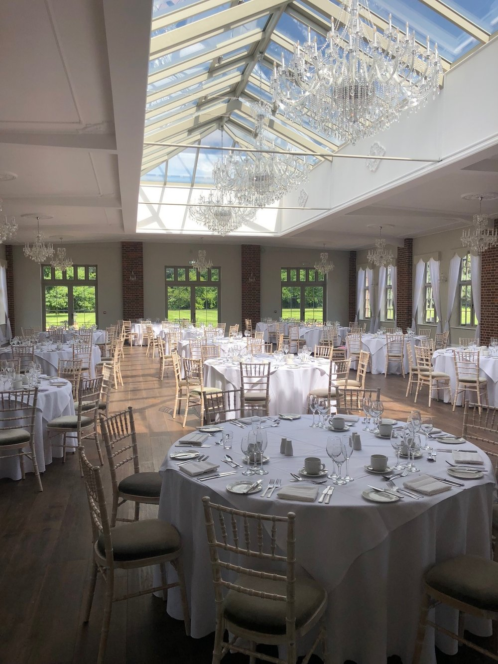 Wedding Breakfast chandeliers 120 guests.jpg