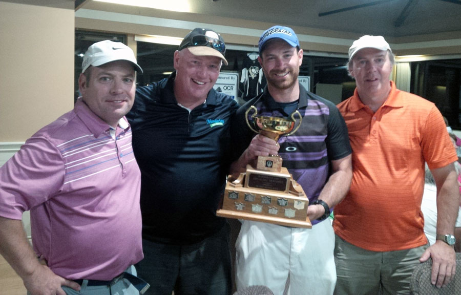 Congratulations to Heartwood's Heartiest Hearts who won the METLIFE Golf Tournament with a score of -7. Our team was represented by (left to right) Michel Leblanc, Wayne Moloughney, Chris Johnson (Moe's nephew) and Pete Rivet!