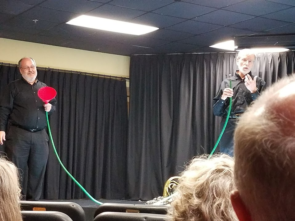 Jim Buckner & Jim Woolly demonstrating the Hose Horn!