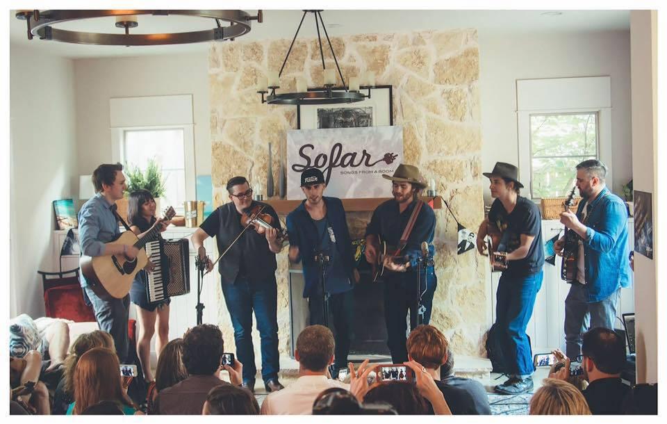 with Ginny Mac, Chessboxer, Mike Lackey, & The Zuni Mountain Boys at Sofar Sounds Dallas, TX