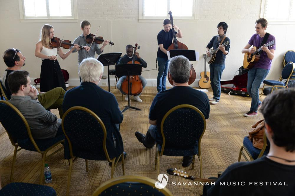 Performing at the Acoustic Music Seminar in Savannah, GA
