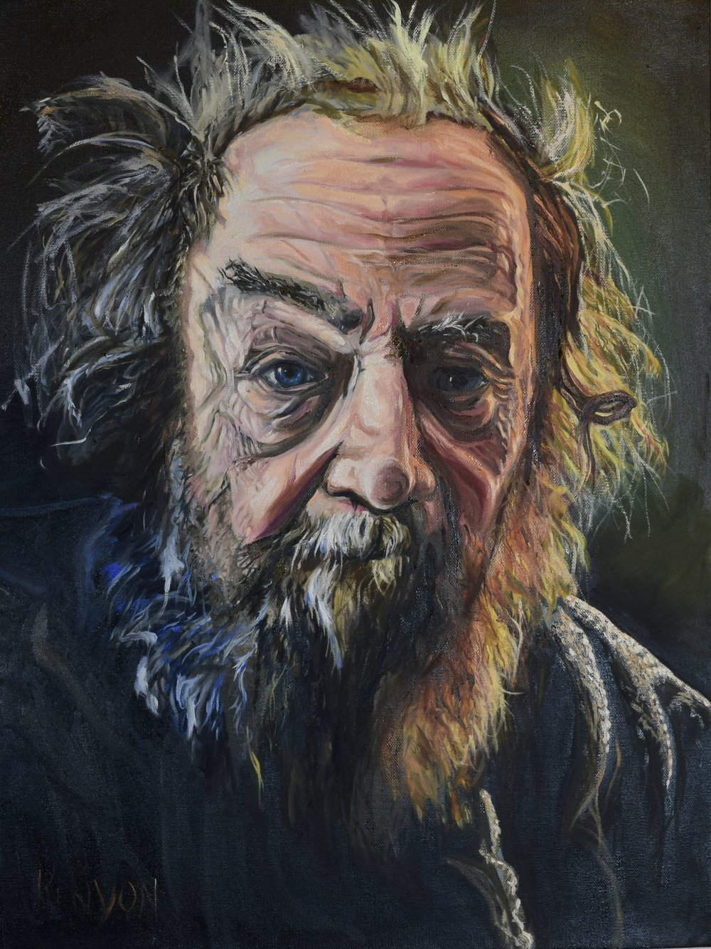 Donald Hall was a poet, author and long time resident of Hew Hampshire who passed away in 2018. This is an 18 x 24 oil on canvas portrait of him . Many thanks to New Hampshire Public Radio and Michael Brindley who's amazing photos inspired this portrait.