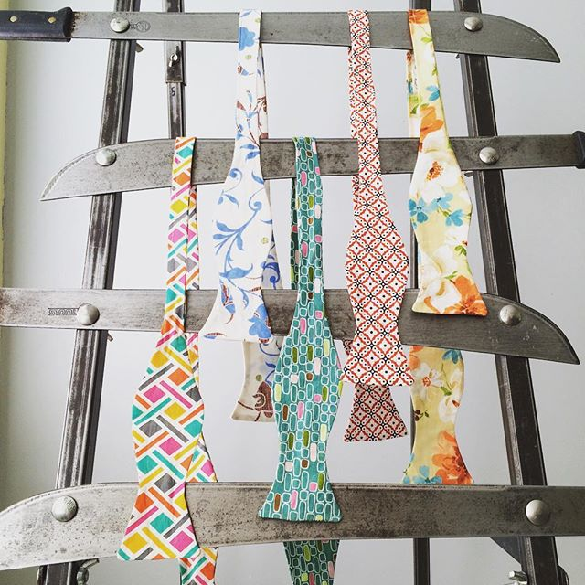 Five new ties. Hand made and available now. Only one of each. Machete Ladder not included. Link in profile.  #dapper #bowtie #donnyvomit #sideshow #dandy #menswear