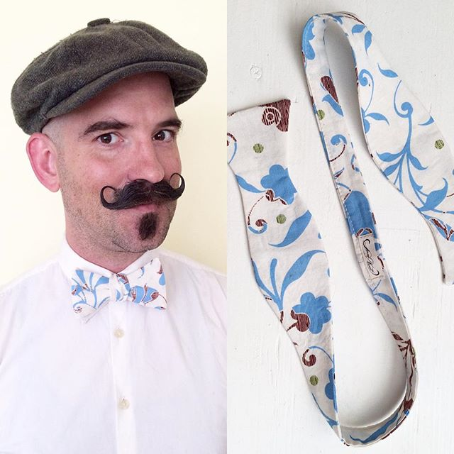 You can buy this bow tie! Get your handmade Donny Vomit bow ties in our Etsy shop. But ya gotta hurry, there's only one of each design, once it's gone, that's it brother!  Link in profile.  More coming soon.  Handmade here in the USA by @frankiesinburlesque.  #donnyvomit #sideshow #dapper #bowtie #dandy #moustache