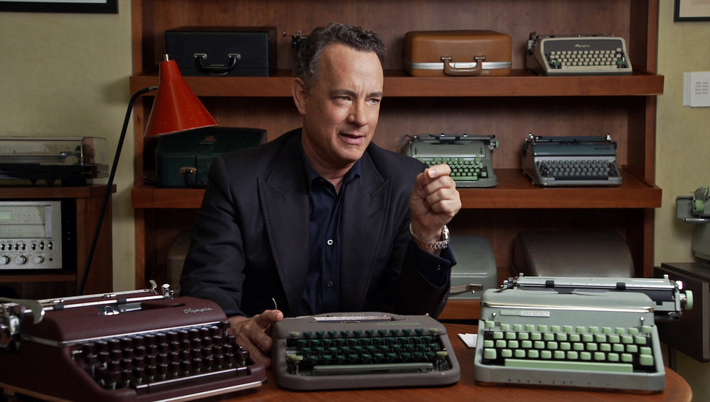 Tom Hanks with Typewriters