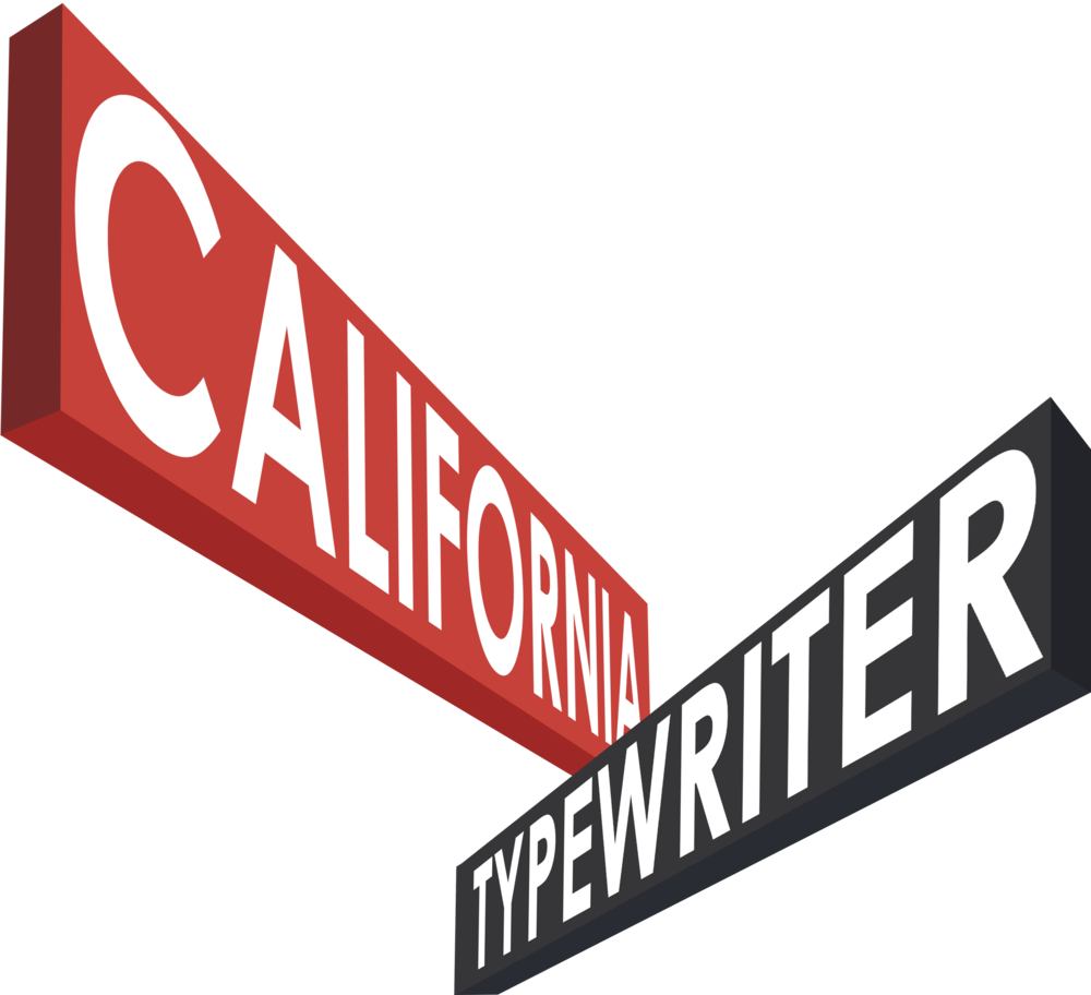 California Typewriter Logo with Laurels