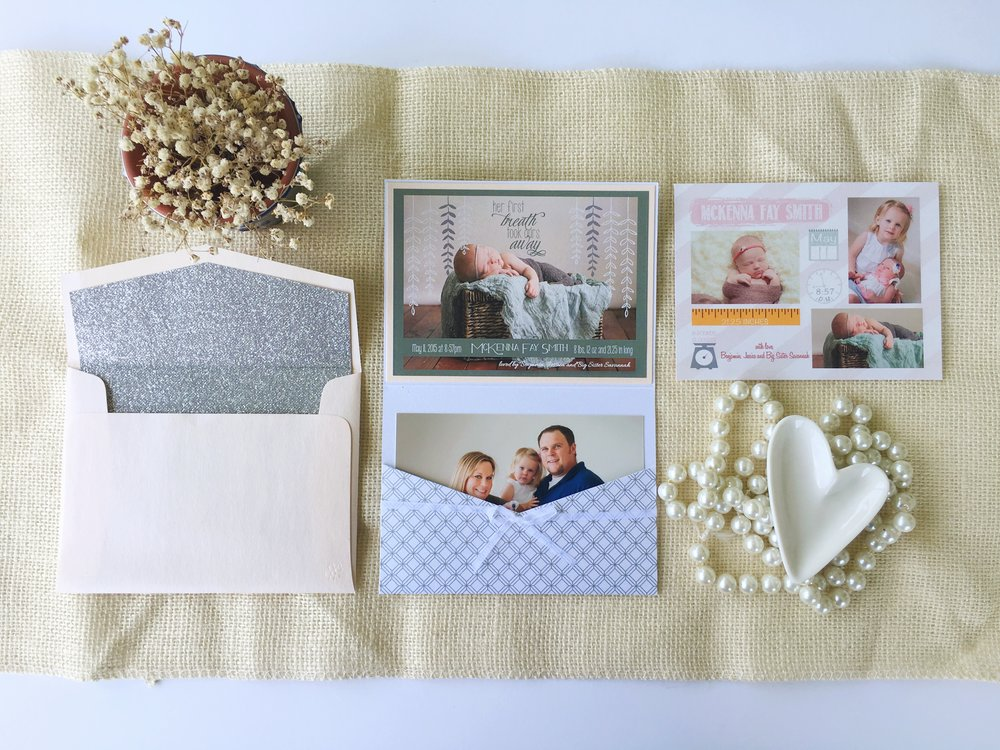 jsd keepsake pink silver birth announcement contents.jpg