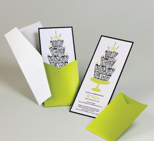 green and black modern birthday invitation cake theme.jpg