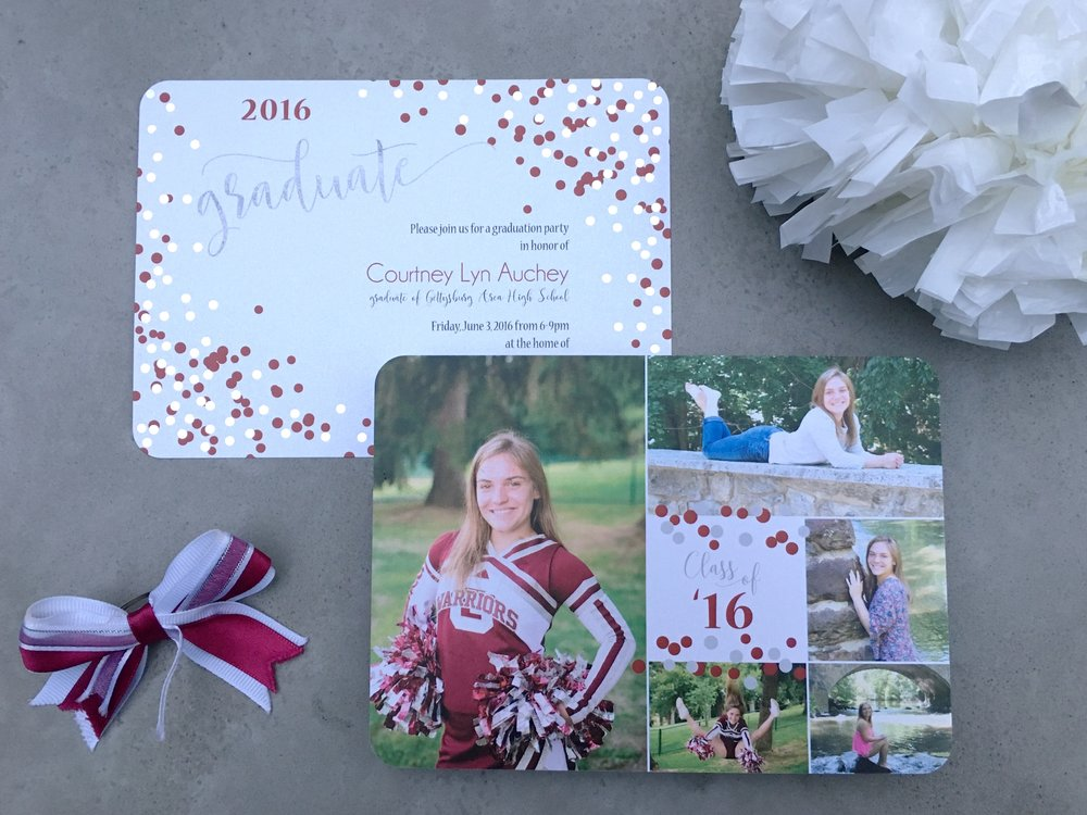 3- gettysburg cheerleader graduation party invitation.jpg