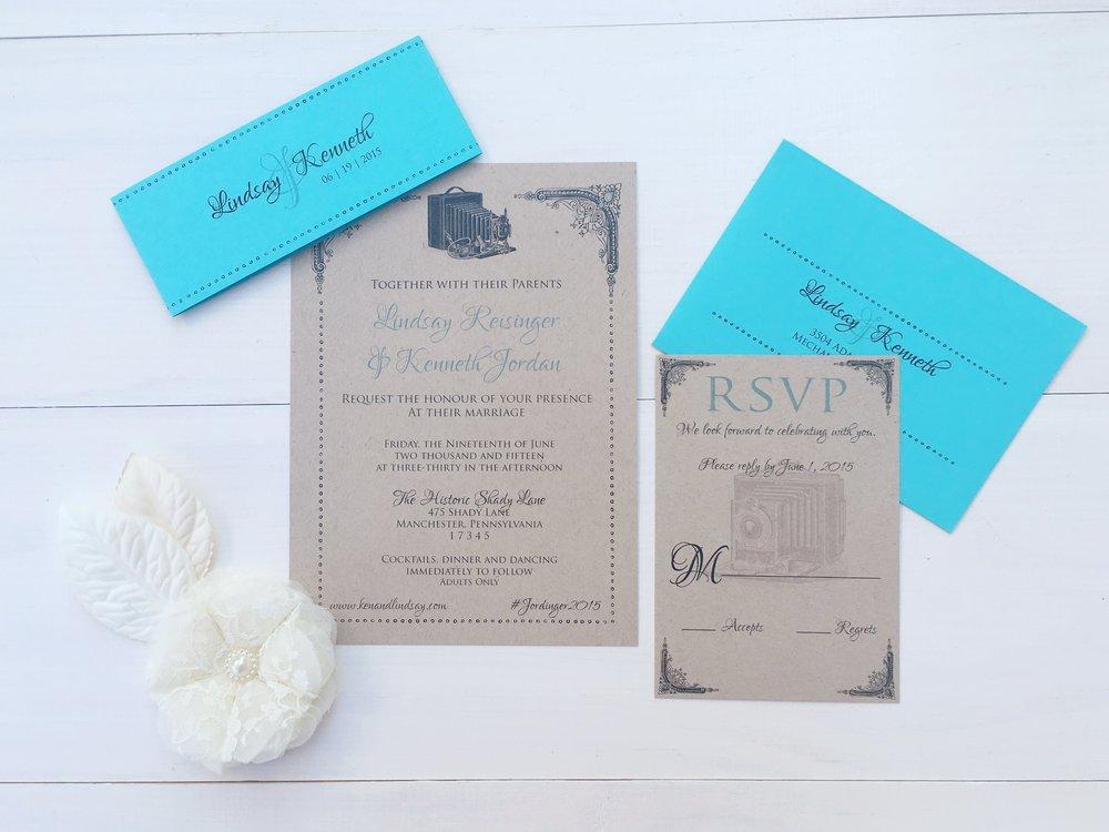 jsd kraft aqua photography vintage wedding invitation.jpg