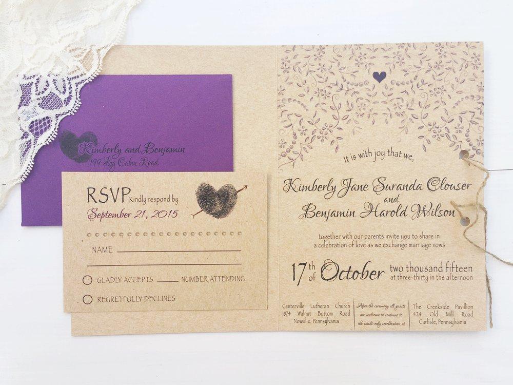 jsd- folded heart thumbprint rustic wedding invitation.jpg