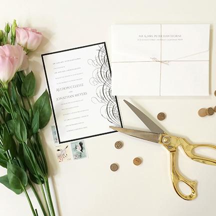 jsd-e black and white flourish modern wedding invitation.jpg