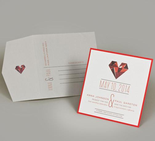 jsd-e red white heart geometric square modern wedding invitation.jpg