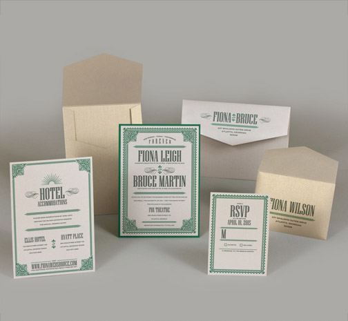 jsd-e vintage framed green white wedding invitation.jpg