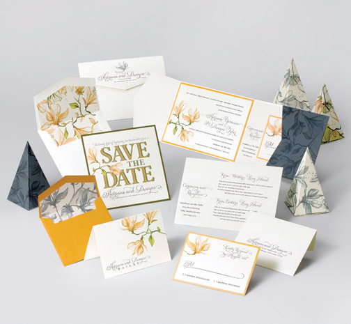 jsd-e black yellow floral save the date invitation suite.jpg