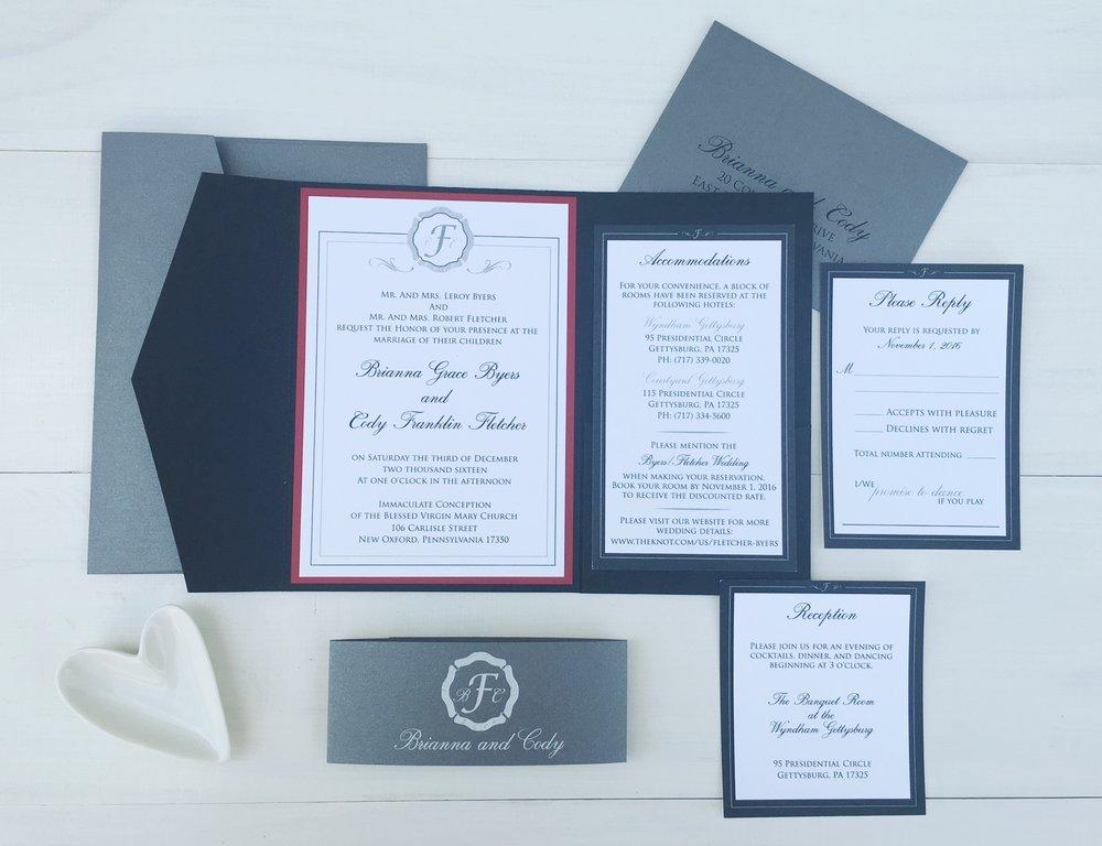 Featured: Mr. & Mrs. Fletcher - Wedding Invitations — JesSmith Designs