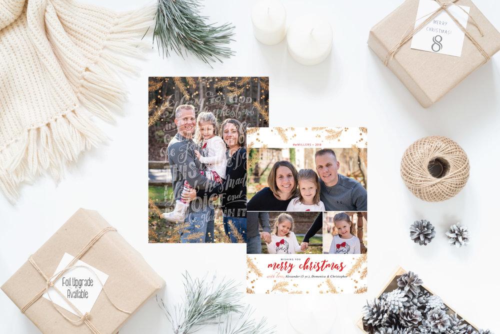8- Christmas Cards Holiday Cards 2017 JesSmith Designs_Pine Foil Overlay.jpg