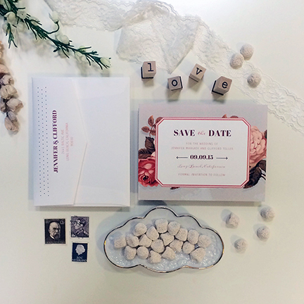 Central PA, York PA, JesSmith Designs, custom, wedding, invitations, bridal, announcements, save the date, baby, hanover, calligraphy, baltimore, wedding invitations, lancaster, gettysburg- victorian roses save the date.JPG